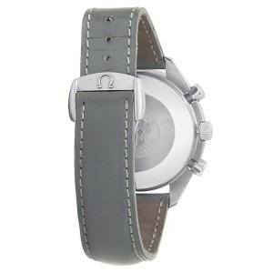 Omega Speedmaster Stainless Steel Grey Leather Auto MOP Ladies Watch 3802.72.55