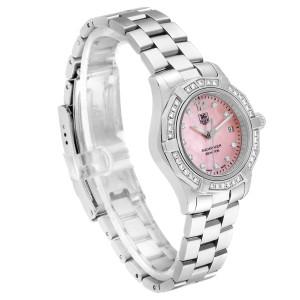 TAG Heuer Aquaracer Mother of Pearl Diamond Ladies Watch WAF141B