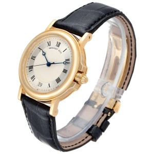 Breguet Classique 18K Yellow Gold Silver Dial Mens Watch 4154G