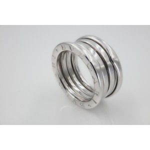 Bulgari Zero 1 18K White Gold Band Ring Size 6.25