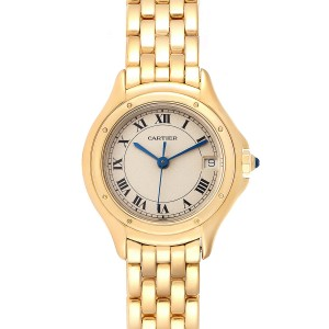 Cartier Panthere Cougar 18K Yellow Gold Ladies Watch 887906