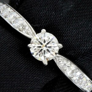 Tiffany & Co. Platinum Diamond Harmony Ring TNN-1695