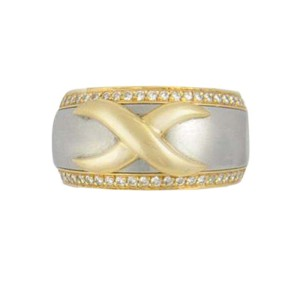 D'arsy Diamond 18K Two Tone Gold Ring