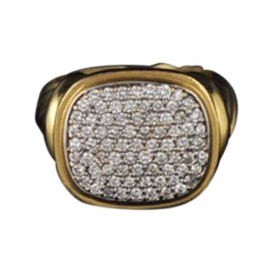 David Yurman 18K Yellow Gold Noblesse Diamond Ring