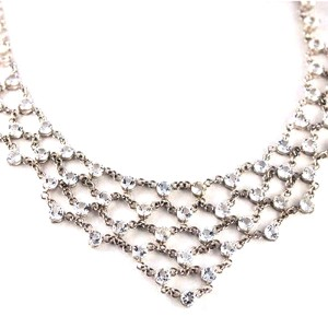 Sterling Silver & White Topaz Necklace