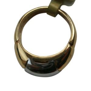 Bulgari Bvlgari 18K Yellow Gold Stainless Steel Ring