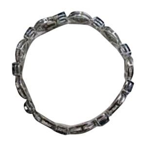 14K White Gold Blue Sapphire Diamond Bracelet