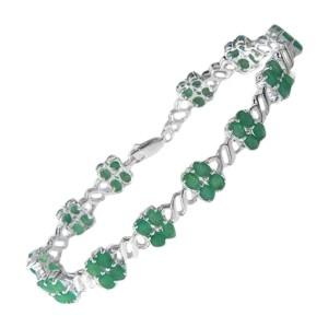 Sterling Silver Emerald Bracelet