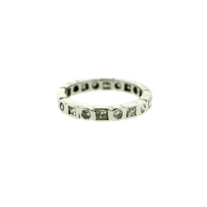 14K White Gold Diamond Modern Band Ring