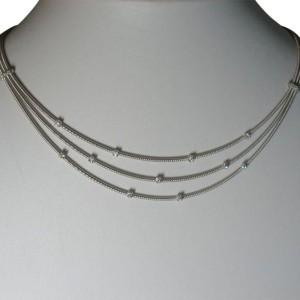 Marco Bicego Santorini Diamond 18K White Gold Necklace