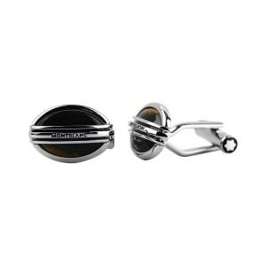 Montblanc Stainless Steel Tiger Eye Cufflinks