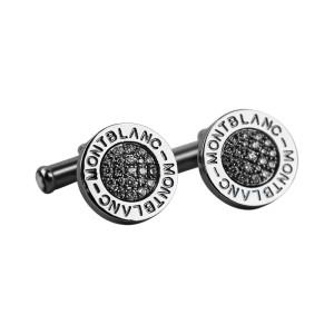 Montblanc Stainless Steel & 0.55ct Diamond Cufflinks