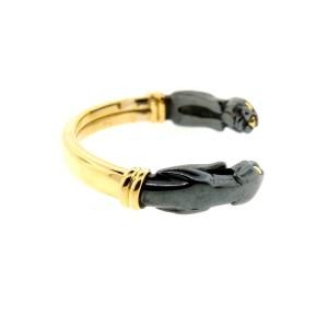 Cartier Panther Hematite 18K Yellow Gold Bracelet