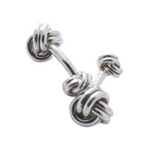 Tiffany & Co. Sterling Silver Knot Cufflinks