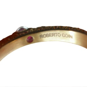 Roberto Coin Three Stone 18K Rose Gold Classique Ring