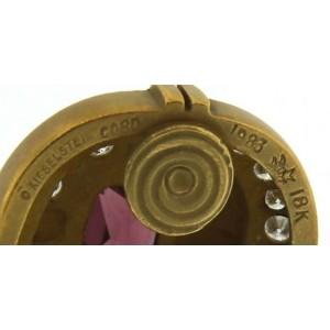 Kieselstein-Cord Pink Tourmaline, Diamond & Gold Vintage Earrings