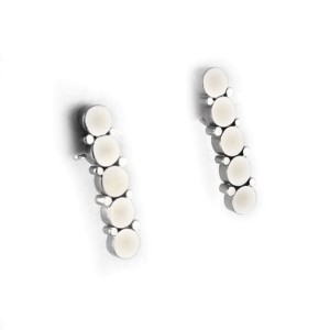Marina B 18k White Gold Demi Ligne Drop Earrings