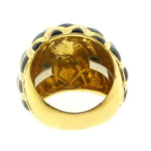 Timeless David Webb 18K Yellow Gold & Enamel Ring