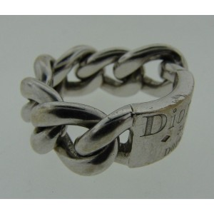 Christian Dior 18K White Gold Link Ring