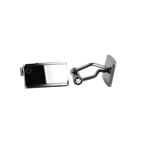 Montblanc Stainless Steel With Tungsten Inlay Cufflinks