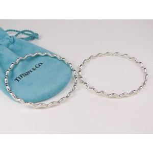 Tiffany & Co. Pair Paloma Picasso Sterling Silver Zig Zag Wave Bracelets