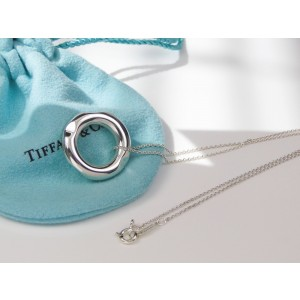 Tiffany & Co. 925 Sterling Silver Tube Pendant & Chain