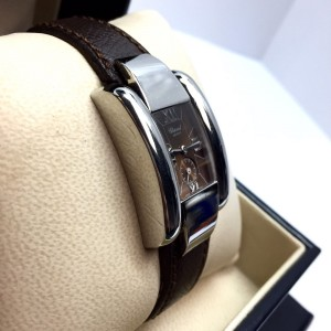 Chopard La Strada Stainless Steel Brown Band 23.80mm Womens Watch