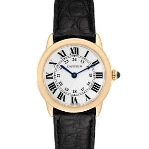 Cartier Ronde Solo Steel 18K Yellow Gold Small Ladies Watch W6700355