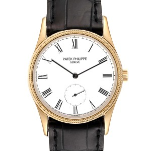 Patek Philippe Calatrava 18k Rose Gold Vintage Watch 3796