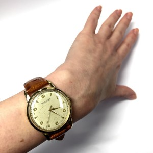 IWC 18K Yellow Gold / Leather Automatic 36mm Mens Watch