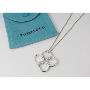 Tiffany co 925 sterling silver elsa peretti quadrifoglio tiffany co 925 sterling silver elsa peretti quadrifoglio pendant necklace mozeypictures Gallery