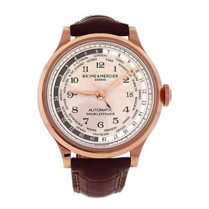 Baume & Mercier Capeland Worldtimer M0A10107 18K Rose Gold Automatic 44mm Mens Watch