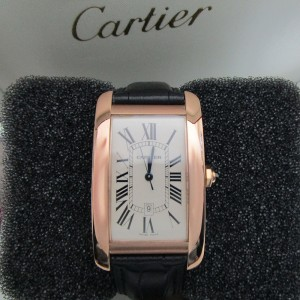 Cartier Tank Americaine W2609156 26mm Mens Watch