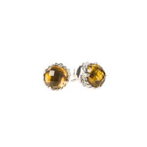 David Yurman Claine Sterling Silver With Citrine Earrings
