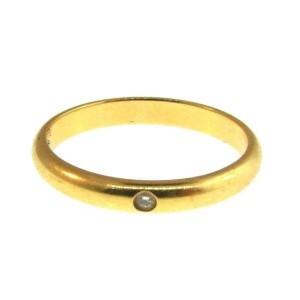 Cartier Classic 18K Yellow Gold and Diamond Band Ring Size 6