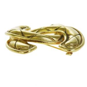 Chanel Gold Tone Hardware CC Logo Pin Brooch