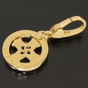 Bulgari 18K Yellow Gold Tondo Cross Charm Pendant