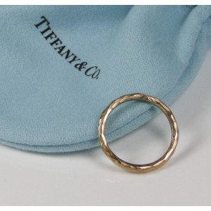ca180f320 Tiffany & Co. Paloma Picasso 18K Rose Gold Hammered Ring Size 5 | Tiffany &  Co. | Buy at TrueFacet
