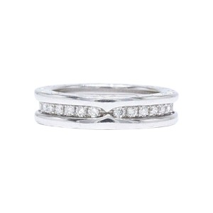 Bulgari B Zero1 18k White Gold 0 60tcw Diamond Wedding Ring Size 4