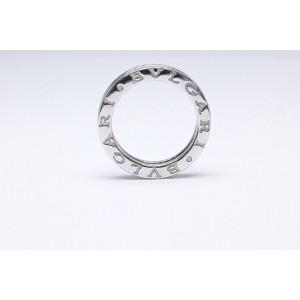 Bulgari B.zero1 18K White Gold 0.60tcw Diamond Wedding Ring Size 4