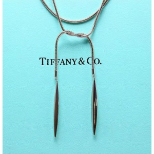 Tiffany & Co. Feather 18K White Gold Necklace