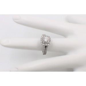 Vera Wang Halo Diamond Engagement Ring Rounds 1 1/2 ct 14k White Gold