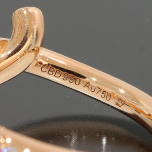 Cartier Entrelaces 18K Rose Gold Diamond Ring Size 4