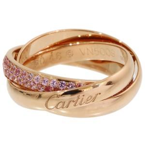 Cartier Trinity de Cartier 18K Rose Gold Sapphire Ring Size 4