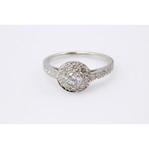 Tiffany & Co. Platinum 0.64ctw. Diamond Engagement Ring Size 5.25