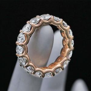 14k Rose Gold 5.00ctw Diamond Eternity Band Size 6.5