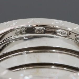 Bulgari Bvlgari 18K White Gold Ring Size 5