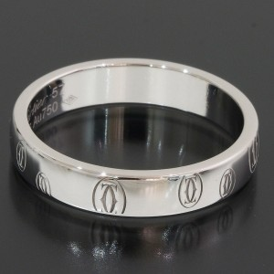 Cartier Happy 18K White Gold Ring Size 8.25