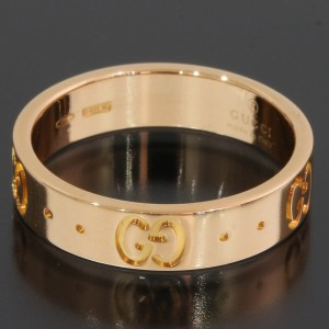 Gucci ICON 18K Rose Gold Ring Size 4.5