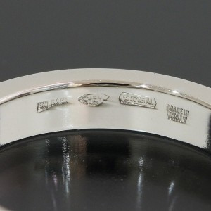 Bvlgari Bulgari Platinum Wedding Ring Size 4.75